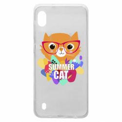 Чехол для Samsung A10 Summer cat