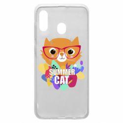 Чохол для Samsung A20 Summer cat