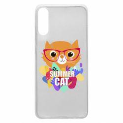 Чехол для Samsung A70 Summer cat