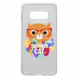 Чехол для Samsung S10e Summer cat