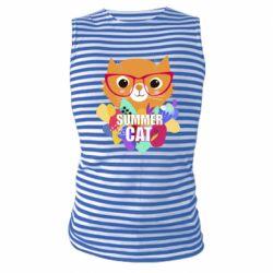 Майка-тельняшка Summer cat