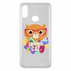 Чехол для Samsung A10s Summer cat