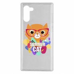 Чехол для Samsung Note 10 Summer cat
