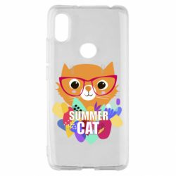 Чехол для Xiaomi Redmi S2 Summer cat
