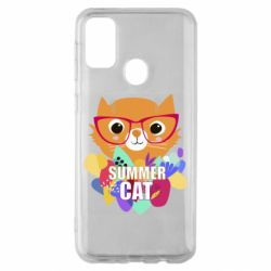 Чехол для Samsung M30s Summer cat