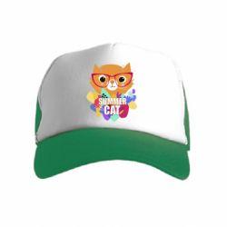 Детская кепка-тракер Summer cat
