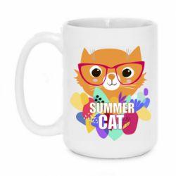 Кружка 420ml Summer cat