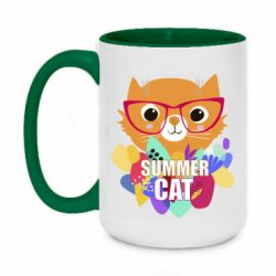 Кружка двоколірна 420ml Summer cat