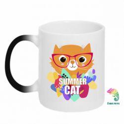 Кружка-хамелеон Summer cat