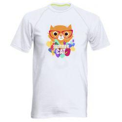 Чоловіча спортивна футболка Summer cat