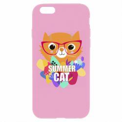 Чехол для iPhone 6 Plus/6S Plus Summer cat