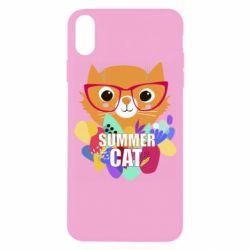 Чехол для iPhone X/Xs Summer cat