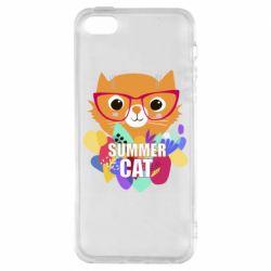 Чохол для iphone 5/5S/SE Summer cat
