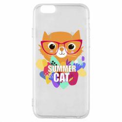 Чехол для iPhone 6/6S Summer cat