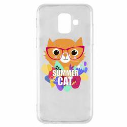 Чехол для Samsung A6 2018 Summer cat
