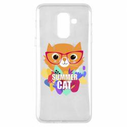 Чехол для Samsung A6+ 2018 Summer cat