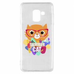 Чехол для Samsung A8 2018 Summer cat
