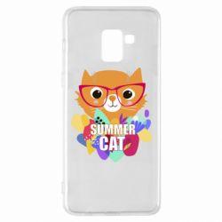 Чехол для Samsung A8+ 2018 Summer cat