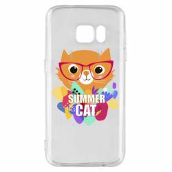 Чохол для Samsung S7 Summer cat