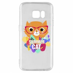 Чехол для Samsung S7 Summer cat