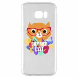Чехол для Samsung S7 EDGE Summer cat