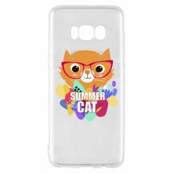 Чехол для Samsung S8 Summer cat