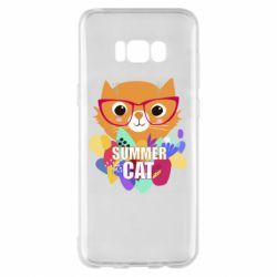 Чехол для Samsung S8+ Summer cat