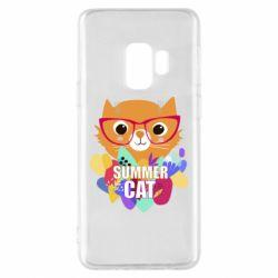 Чехол для Samsung S9 Summer cat