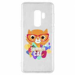 Чехол для Samsung S9+ Summer cat