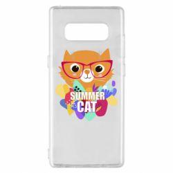 Чехол для Samsung Note 8 Summer cat
