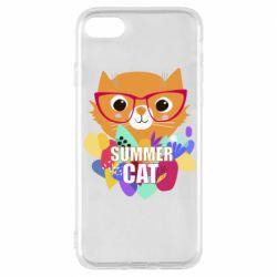 Чехол для iPhone 8 Summer cat