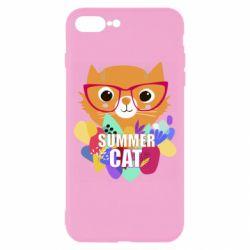 Чехол для iPhone 8 Plus Summer cat