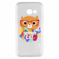 Чехол для Samsung A3 2017 Summer cat