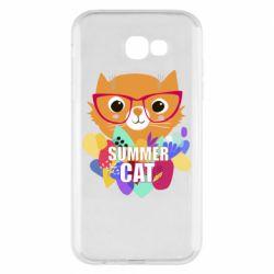 Чехол для Samsung A7 2017 Summer cat
