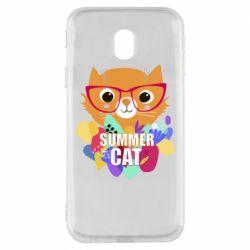 Чехол для Samsung J3 2017 Summer cat
