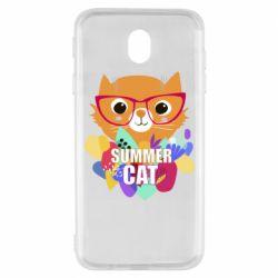 Чохол для Samsung J7 2017 Summer cat