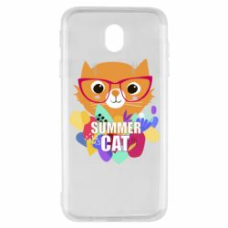 Чехол для Samsung J7 2017 Summer cat