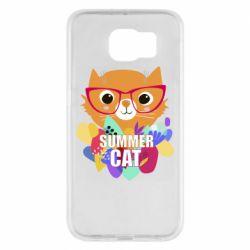 Чохол для Samsung S6 Summer cat