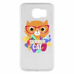 Чехол для Samsung S6 Summer cat