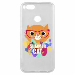 Чехол для Xiaomi Mi A1 Summer cat