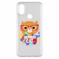 Чехол для Xiaomi Mi A2 Summer cat