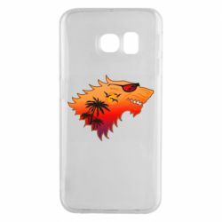 Чехол для Samsung S6 EDGE Summer Wolf with glasses Game of Thrones