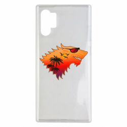 Чехол для Samsung Note 10 Plus Summer Wolf with glasses Game of Thrones