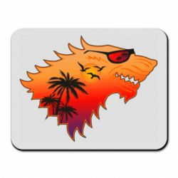 Коврик для мыши Summer Wolf with glasses Game of Thrones