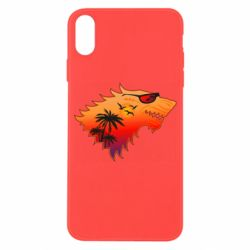 Чехол для iPhone X/Xs Summer Wolf with glasses Game of Thrones