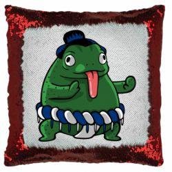 Подушка-хамелеон Sumo toad