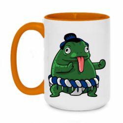Кружка двухцветная 420ml Sumo toad
