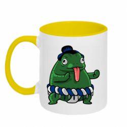 Кружка двухцветная 320ml Sumo toad