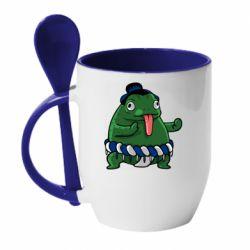 Кружка с керамической ложкой Sumo toad