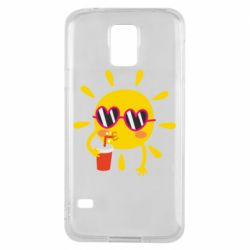 Чехол для Samsung S5 Sun with juice